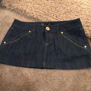 Never worn dark denim skirt